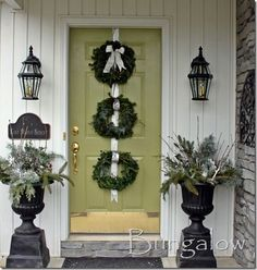 50 Winter Decorating Ideas - winter porch idea winter urns The Effective Pictures We Offer You About diy face mask sewing patter - Christmas Porch, After Christmas, Christmas Wreaths, Christmas Entryway, Frugal Christmas, Christmas Displays, Winter Wreaths, Coastal Christmas, Simple Christmas
