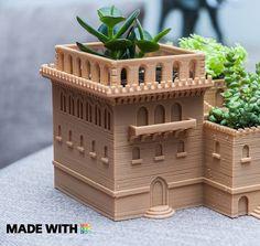 Another amazing #succulent #planter made with #Tinkercad #design #decor #designs #designer #design #3dprinting #create #3dprinting #create #3dmodel #tinkercad #teacher #app #3d #autodesk #building #villas #Italy #architecture #autocad by autodesk123d