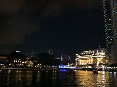 A distant look at Fullerton Hotel, Singapore.