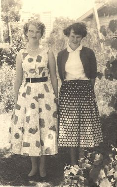 Two pretty 1950s ladies