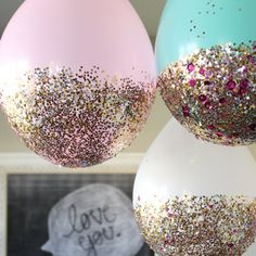 Come check out our Sleeping Beauty Slumber Party and learn how to make these DIY Glitter Balloons!