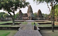 Pimai1 - Thailand - Phimai, Prasat Phimai is the largest temple in the country from the Khmer Empire.