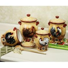 Golden Rooster Canister Set This Would Match My Kitchen Perfectly!