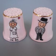 Personalised porcelain hand painted Thimbles Wedding