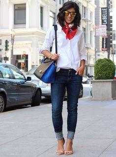 A Camisa branca é mais uma das peças must-havedo guarda-roupa feminino (tem que ter!), mas ela não precisa montar apenas looks básicos e neutros! Ela...