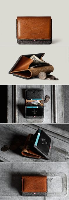 #hardgraft Coin Fold Wallet