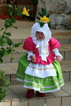 Cute Homemade Toddler Costume: Munchkin from Wizard of Oz... This website is the Pinterest of costumes