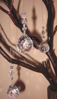 30% Lead Crystal Ornament. $3.95, via Etsy.