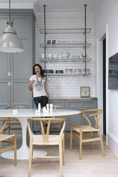 Gray Cabinets with W