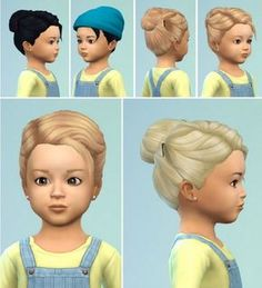 The Sims 4CC || Toddlers Hair Bun with Clips