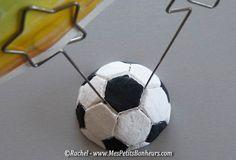 porte photo en pâte à sel ballon de foot