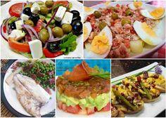 recetas de verano para cenas ligeras Cobb Salad, Potato Salad, Salmon, Appetizers, Potatoes, Ethnic Recipes, Food, Gastronomia, Summer Salads