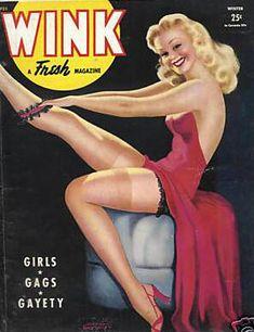 "Winter 1944 vintage Cover of Robert Harrison's ""Wink"" magazine"