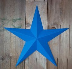 53 Inch Heavy Duty Metal Barn Star Painted Solid Blue The Solid Paint Coverage Gives the Star a Clean and Crisp Appearance This Tin Barn Star Measures Approximately 53 From Point to Point Left to Right The Barnstar Is Hand Crafted Out of 22 Gauge Galvanized Steel By the Old Order Amish From Central Ohio This Size Star Will Arrive in 5 Separate Wings One Tagged on the Back for Easy Hanging and Will Require Quick and Easy Assembly The Screws Are Provided and Painted to Match so They Are Not…
