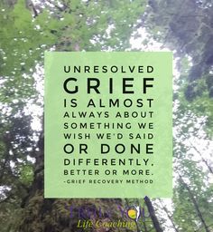 """https://twitter.com/  Unresolved #grief is almost always about things we wish we'd said or done differently, better or more.  ...""""I wish I'd told Dad I loved hm before it was to late""""...""""I wish I'd visited Grandma before she died."""" The Grief Recovery Method will show you how to discover and communicate those unsaid things, so that they no longer limit you or affect your capacity for happiness.  Let's work together towards completeness."""