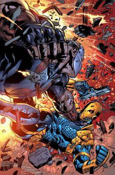 Deathstroke vs Hawkman by Eduardo Pansica, colours by Juan Fernandez