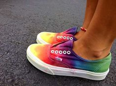 76 Radiant Rainbow Shoes - These Colorful Rainbow Kicks are in Support of Gay Marriage (TOPLIST)