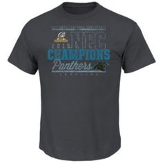 Men s Majestic Carolina Panthers 2015 NFC Champions Classic Tee ae8598e09