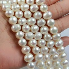 "Aliexpress.com : Buy FREE SHIPPING 1string(15"") 88 28 Natural Cultured Freshwater Pearl Beads,A Grade 6mm/8mm/10mm loose beads Great for Jewelry from Reliable bead distributor suppliers on Yiwu Finding Beads factory 