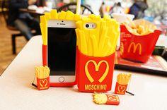 モスキーノ iphone7/7plus カバー フライポテト デザイン iPhone6/6s plusシリコン製ケース iphone5/5s SEケース カバー