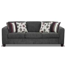 Euphoria Gray Sofa C-1420 | Blue Mountain Furniture 1420 STINGER GRAY - American Furniture Warehouse