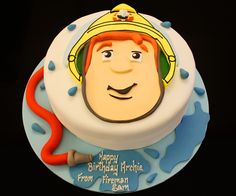 Fireman Sam cake #Fireman #Sam #cake Fisherman Cake, Fireman Sam Cake, Welsh Recipes, Novelty Birthday Cakes, Character Cakes, Cakes For Boys, Cupcake Cakes, Cupcakes, Let Them Eat Cake