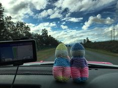 Griet and Piet are doing a good job as a dashboard cam ;-) we are on the way to Namibia World Of Wanderlust, New Adventures, Good Job, Trekking, South Africa, 4x4, Knitted Hats, Road Trip, Knitting