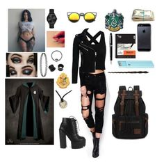"""""""New class Hogwarts student"""" by hayleem75 on Polyvore featuring NOVICA, Tavik Swimwear, Polite, Michael Kors, Fountain, WithChic and Superdry"""