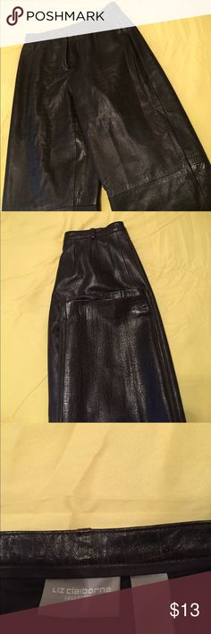 Liz Claiborne. Buttery soft 100% leather pants The pants are really nice quality. The leather is very soft and smooth. These pants are in  Great condition. They are size 6, they are 100% leather  pants with lining. Must see to appreciate. Liz Claiborne Pants