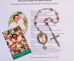 LIMITED EDITION - Unbreakable Chaplet of St. Gianna Beretta Molla - Patron Saint of Pregnant Women and Against Abortion