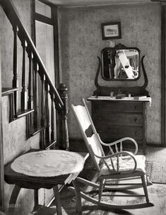 "Hard Times: 1935 photo by Walker Evans - July 1935. ""Interior of unemployed man's house. Morgantown, West Virginia."""