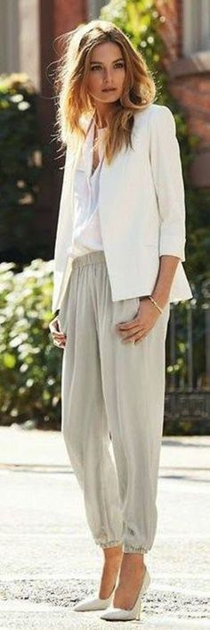 Grey Chic Hareem Pants I can remember wearing slacks like these in my younger days. Are they making a comeback?