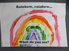 Rainbow, Rainbow what do you see. Preschool Books, Book Activities, Preschool Ideas, Rainbow Activities, Preschool Class, Craft Ideas, Weather Unit, Weather Book, Preschool Weather