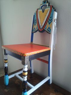 Multi Color Furniture On Pinterest Painted Chairs Hand Painted