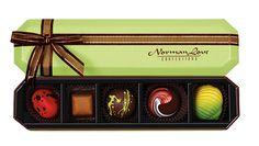 Norman Love five piece chocolate gift box. Norman Love, Chocolate Gift Boxes, Love Photography, Creative, Chocolates, Core, Chocolate, Brown