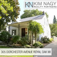 Just Listed | 305 Dorchester Avenue  Only 3 owners on this well maintained and move-in ready Royal Oak bungalow! Lovely covered front sitting porch provides a cool place to relax and great curb appeal. Open concept living and dining area is great for entertaining and features coved ceilings, decorative arched doorways and hardwoods throughout. Bright kitchen utilizes space effectively with plenty of cabinet storage. Two light-filled bedrooms on entry level share a surprisingl