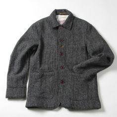 universal works harris tweed bakers jacket