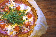 Recept: Zoete aardappel pizza met rode biet