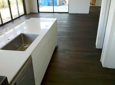 Brazilian Cherry Hardwood Floor In Indianapolis Home Stained Dark Ebony Floors