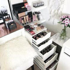 """Gefällt 778 Mal, 5 Kommentare - VANITY COLLECTIONS (@vanitycollections) auf Instagram: """"What a storage space . Using our VC 5 Drawer pack ( to fill all 5 drawers with storage in my IKEA…"""""""