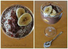 Una Fragola ai Fornelli: Zuppa inglese al bicchiere con banane, cocco e rhu...