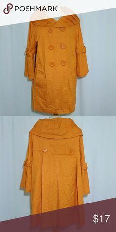 Jacket Women's orange jacket with large round buttons last kiss Jackets & Coats Blazers