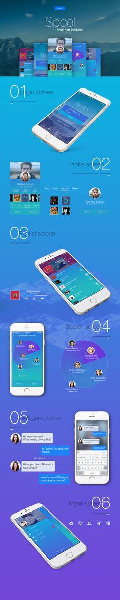 Free mobile ui kit psd on Behance