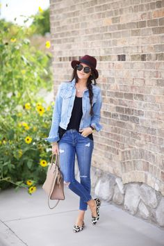 30 Stylish Ways to Style Your Jean Jacket This Spring   StyleCaster