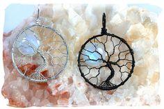 Large Rainbow Moonstone Tree of Life Pendant por PhoenixFireDesigns, $145.00