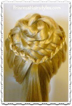 braided flower corsage hairstyle tutorial