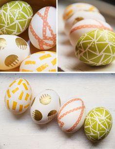 diy washi tape easter eggs decoration idea
