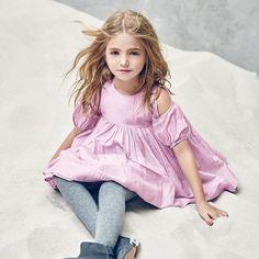【SALE30%OFF】 Nellystella [ネリーステラ] Vanessa Dress ワンピース(ラベンダーグレー)1-3Y - インポート・輸入 ベビー・子供服 出産祝い vivid LIFE