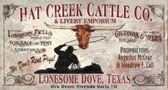 Lonesome Dove Vintage Wood Sign at AllPosters.com
