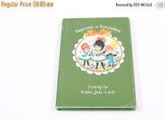 Sale on Books 50% Off - Hallmark Happiness is Everywhere 1967 Dean Walley Vintage Card Book by ThePinkRoom